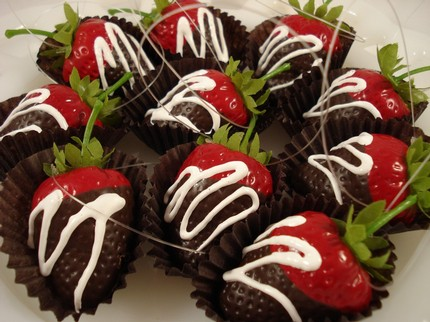 Faux Chocolate Dipped Strawberries by Jenni B Originals
