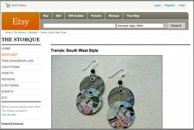 Crostini Designs featured on The Storque :: Spotlight - Trends: South West Style
