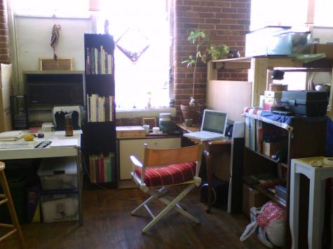 My cozy studio in Providence, March 2009.