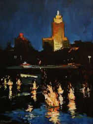"Anthony Tomaselli: ""Waterfire: Superman Building"""