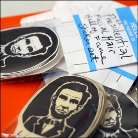 Presidential Facial Hair Hall of Fame Gocco Stickers by jelloh on Etsy