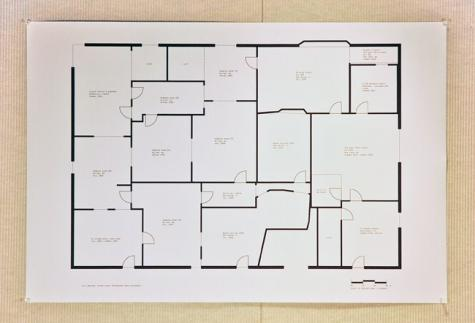 """Memory Floor Plan"", an inkjet print by Leslie Kwok (RISD MFA Graphic Design 2008)"