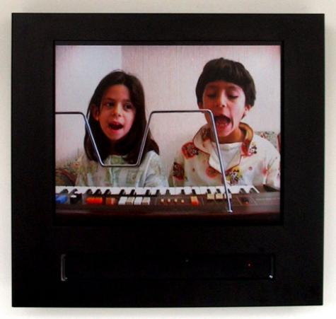 "Ziad Antar ""Wa"" (2004), video, installation view"